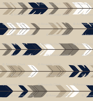 Arrow Feathers - Tan and NAVY