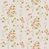 Meadow Wildflower Autumn on Vintage Cotton