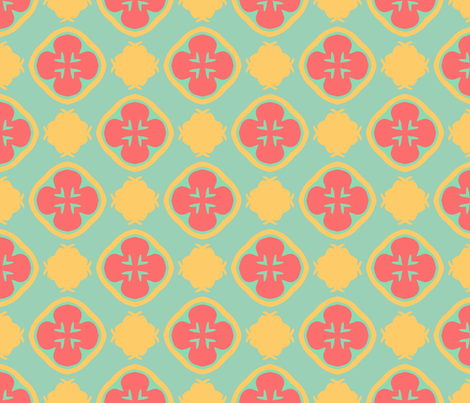 SAGE Beach Quatrefoils fabric by linda_baysinger_peck on Spoonflower - custom fabric