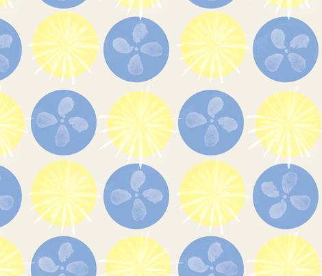 summer rains hydrangea-ed fabric by ebixcalligraphy on Spoonflower - custom fabric