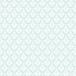 ombre mermaid scales // aqua // small