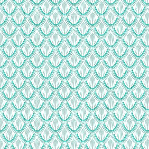 ombre mermaid scales // pantone 130-6 // small