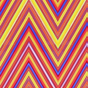 RainbowTie Dye Chevron Stripe 5