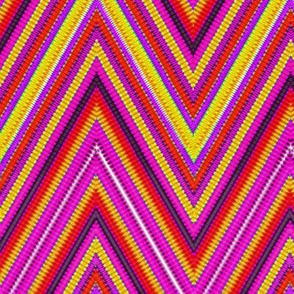 Rainbow Tie Dye Chevron Stripe 7