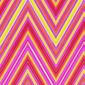 Rainbow Tie Dye Chevron Stripe 8