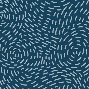 Stitched Swirls - Navy