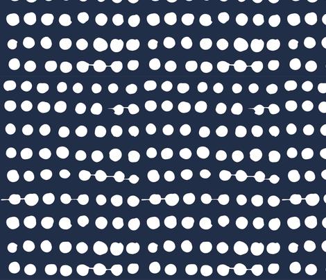 White on Navy Polka Dots fabric by thefashionrobot on Spoonflower - custom fabric