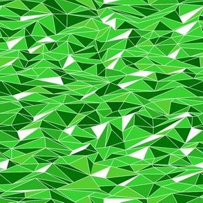 Geometric Rolling Hills of Green
