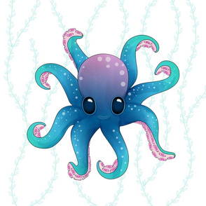 Octopus Friend_Pillow_18x18in