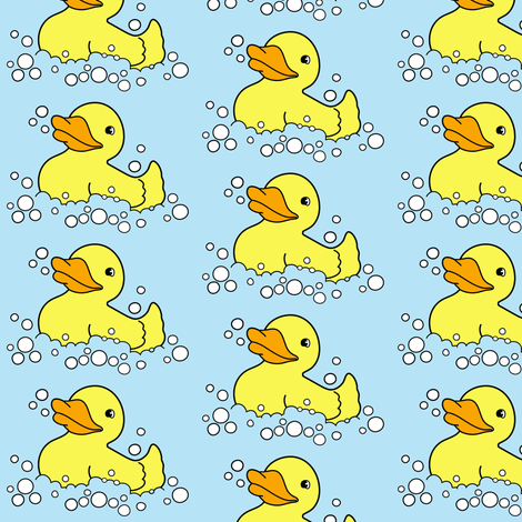 D is for Duck fabric by rebelinn on Spoonflower - custom fabric