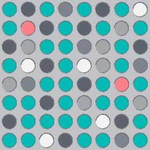 Aero med dots lt gray