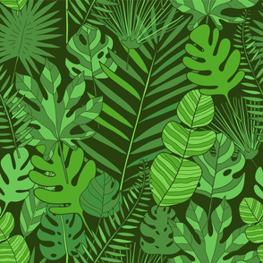 tropical plantation pattern