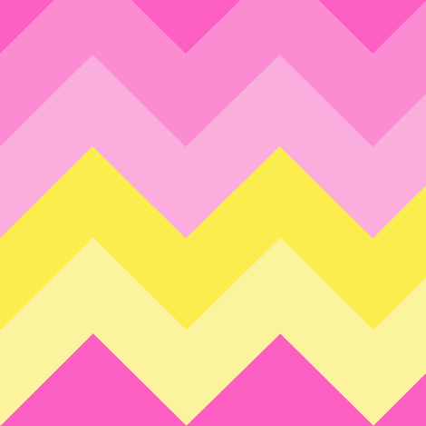 Hot Pink Yellow Ombre Chevron Zigzag Pattern fabric by decamp_studios on Spoonflower - custom fabric