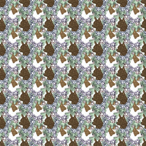 Floral Chihuahua portraits F - small