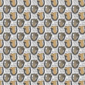 Italian Greyhound horseshoe portraits B - small