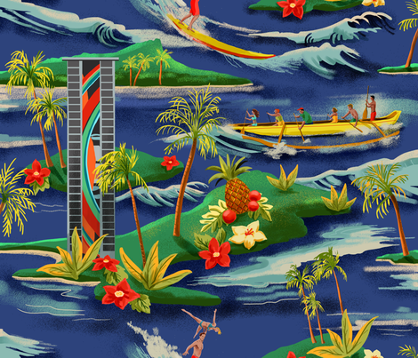 Hawaiian Vacation fabric by vinpauld on Spoonflower - custom fabric