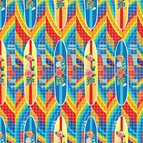 Rainbow-tower-surfboards pattern
