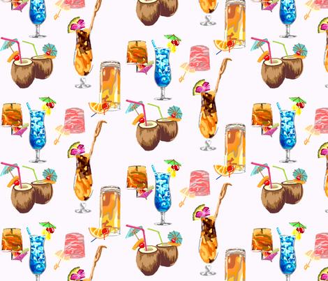 Hawaiian Happy Hour! fabric by madartes on Spoonflower - custom fabric