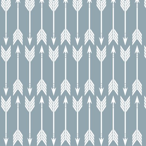 arrows // blue (90) - Rustic Woods Collection fabric by littlearrowdesign on Spoonflower - custom fabric