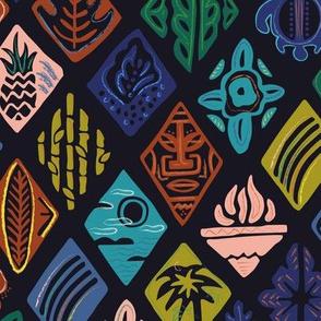 Hawaiian Geometric Print