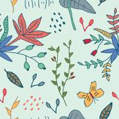 Mint-green-botanicals