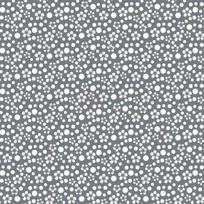 Small Scale Dots Gray and White by Amborela