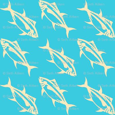 Diagonal_Tuna_Cream_on_Turquoise