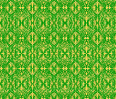 Tropical Trellis on Pineapple Passion - Small ScaleSmall Scale  fabric by rhondadesigns on Spoonflower - custom fabric