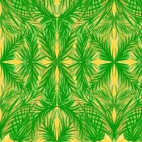 Tropical Trellis on Pineapple Passion and Cream