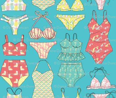 Waikiki Bikinis in  Ocean Blue
