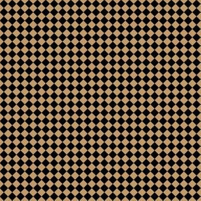 Quarter Inch Black and Camel Brown Diamonds (Four to an Inch)