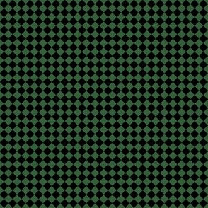 Quarter Inch Black and Hunter Green Diamonds (Four to an Inch)