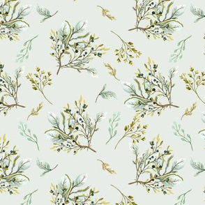 Olive Branch Cluster Minty Branches