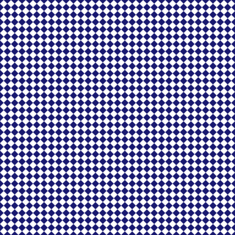 Quarter Inch White and Midnight Blue Diamonds (Four to an Inch) fabric by mtothefifthpower on Spoonflower - custom fabric
