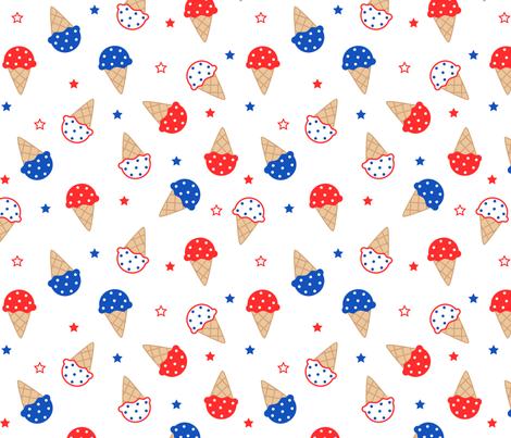 4th of July Ice Cream fabric by heatherhightdesign on Spoonflower - custom fabric