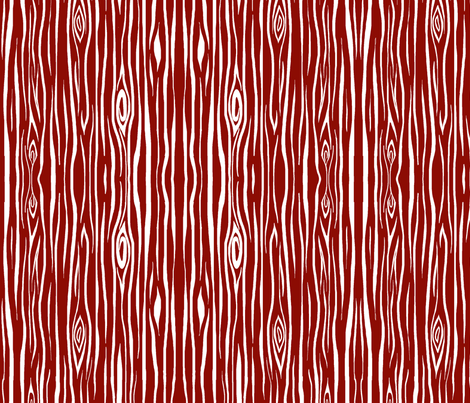 Woodgrain large scale - scarlet fabric by sugarpinedesign on Spoonflower - custom fabric