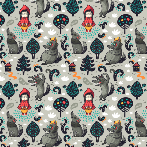 Little Red fabric by penguinhouse on Spoonflower - custom fabric