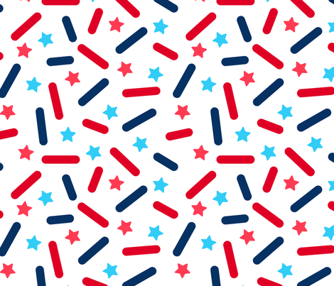 Donut Sprinkles - 4th of July fabric by heatherhightdesign on Spoonflower - custom fabric