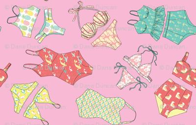 Waikiki Bikinis Scatte in Hibiscus Pink