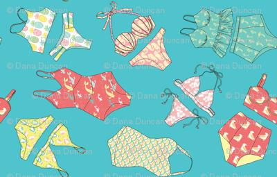 Waikiki Bikinis Scatter in Ocean Blue