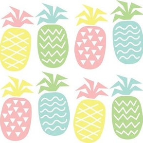 Crazy Pastel Pineapples