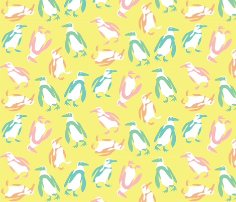 Colorful Penguins fabric by pinkowlet on Spoonflower - custom fabric