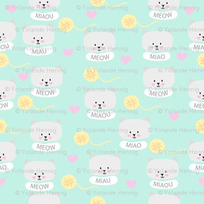 Cat pattern mint