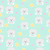 Cat pattern mint