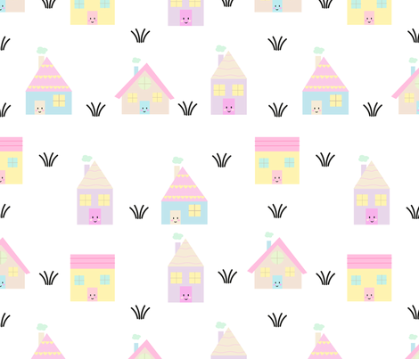 Little houses fabric by yolidoo on Spoonflower - custom fabric