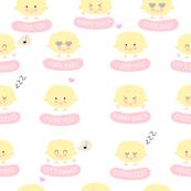 farm chicks - baby girl print