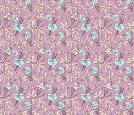 ice cream pink fabric by torysevas on Spoonflower - custom fabric
