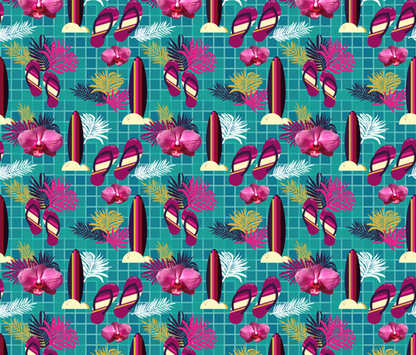Oh my hawaii fabric by colorofmagic on Spoonflower - custom fabric