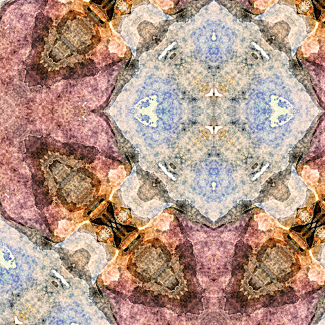 Sea Shells Kaleidoscope Abstract fabric by linda_baysinger_peck on Spoonflower - custom fabric