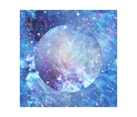 Yard xl square panel planet nebula starry sky fabric for Nebula fabric by the yard